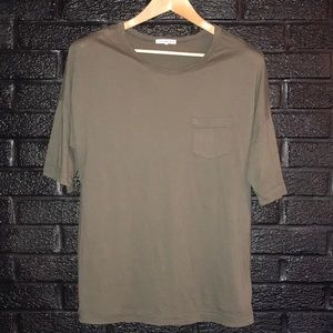 James Perse olive green standard t shirt size 2